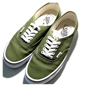 Vans; Olive Green; size US 7.5 (men); like new